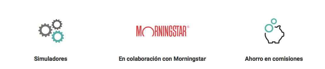 Se muestran las características de los Planes de Pensiones indexados de CNP Partners con la colaboración de Morningstar