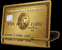 Tarjeta de crédito american express gold para acumular puntos MR con cada compra y poder cambiarlos por regalos y vuelos