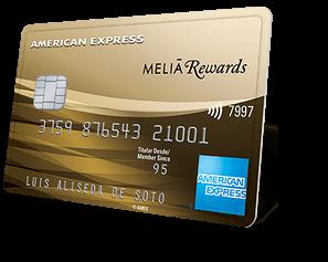 Tarjeta de crédito american express para acumular puntos con Meliá Reward e ir a hoteles gratis