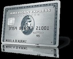 Tarjeta de crédito american express platinium para acumular puntos MR con cada compra y volar gratis