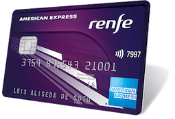 Tarjeta de crédito american express para acumular puntos con Renfe