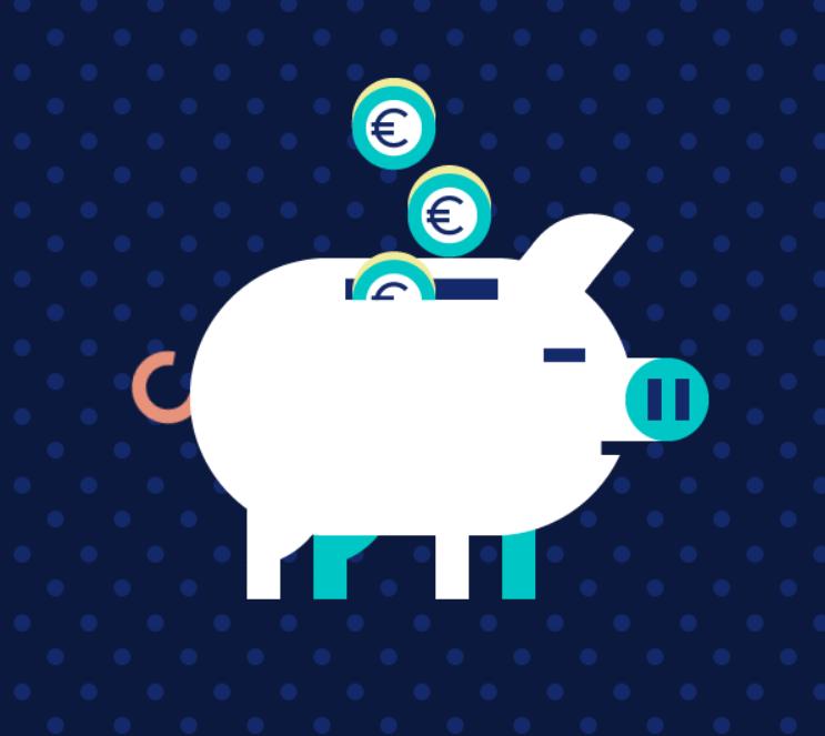 Imagen de una hucha que simboliza los productos de ahorro de wizink