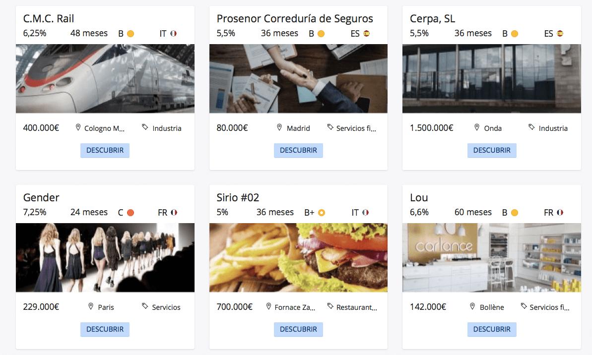 Ejemplos de proyectos financiados en Lendix