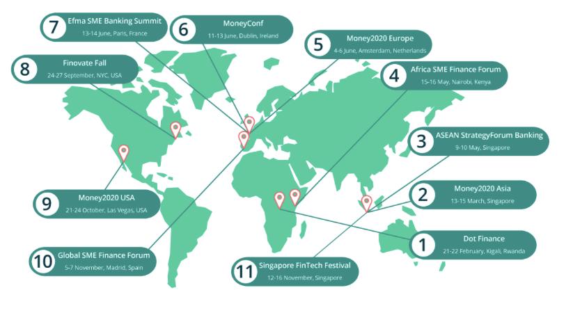 Principales conferencias fintech de todo el mundo