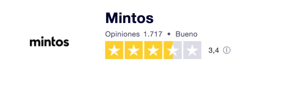Opiniones de clientes de Truspilot de la plataforma Mintos