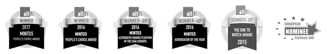 Premios recibidos por Mintos desde su apertura en 2015