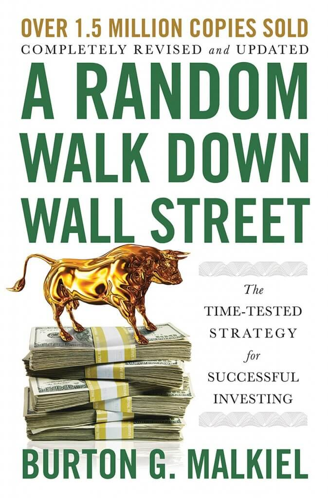 Libro en inglés de Un paseo aleatorio por Wall Street, de Burton G. Malkiel para invertir en inversión pasiva