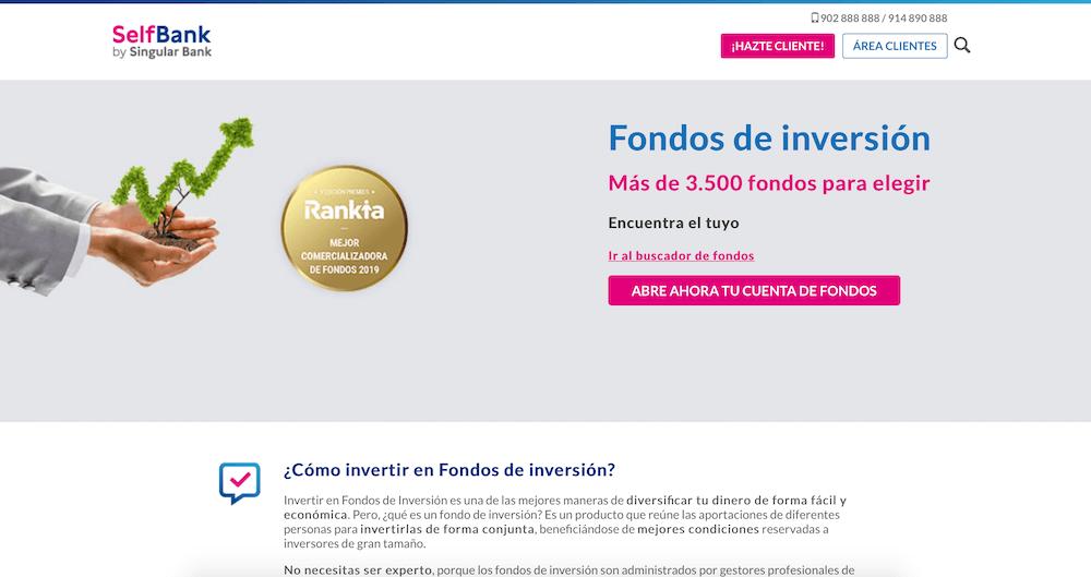 Página web de Selfbank