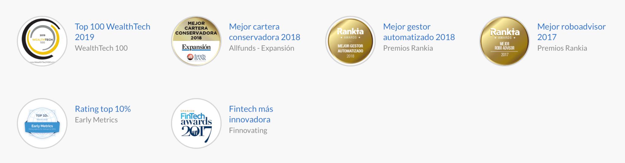 Premios concedidos a Indexa Capital