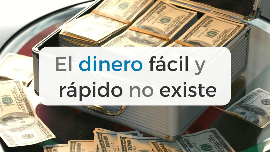 Reflexión sobre ganar dinero fácil y rápido en bolsa.
