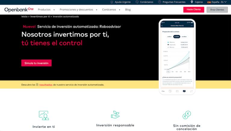 Página web de Openbank