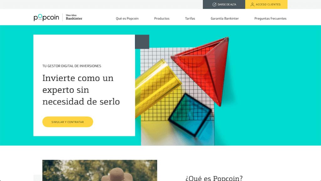 Página web de Popcoin