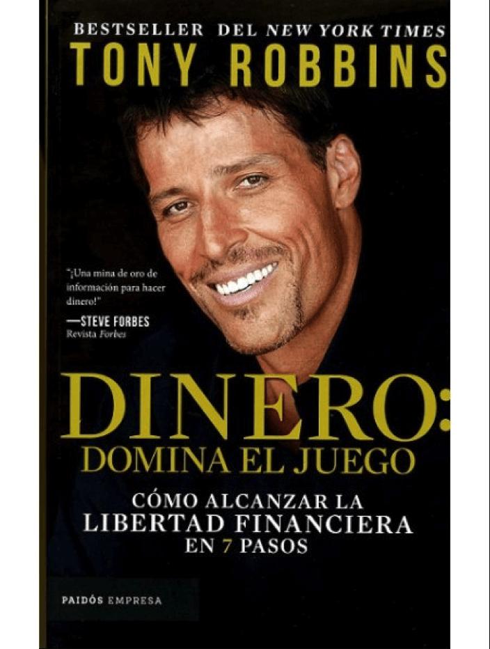 """Portada del libro """"Dinero: domina el juego"""" de Tony Robbins"""