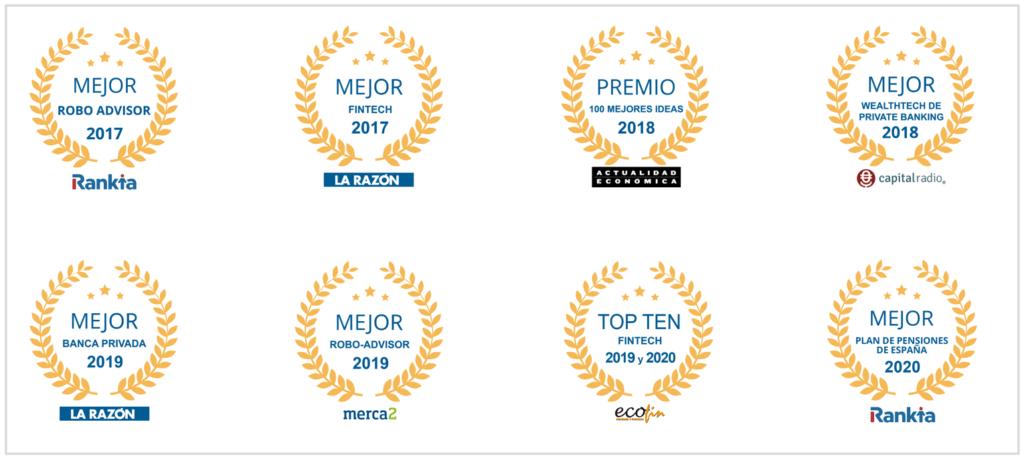 Premios y galardones otorgados a Finizens