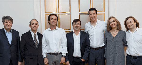 Imagen del equipo de Inbestme. En medio se encuentra Jordi Mercadé, CEO y fundador.