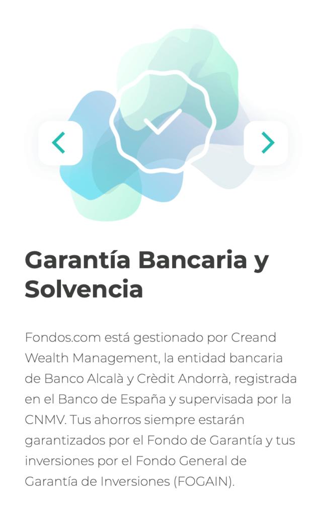 Garantía y solvencia de fondos.com